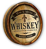 Cheap Personalized Whiskey Label Quarter Barrel Sign