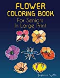 Flower Coloring Book for seniors in large