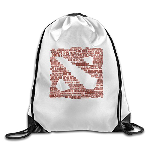 PRIMEEE Dota2 Logo Drawstring Backpack Sack Bag -