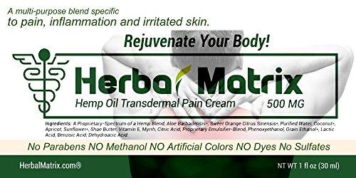 Herbal Matrix Full Spectrum 500 MG Hemp Pain Relief Cream