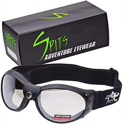 Spits Eyewear Eliminator Road Warrior Frame Foam Padded Motorcycle Goggles (Photochromatic Clear/Smoke)