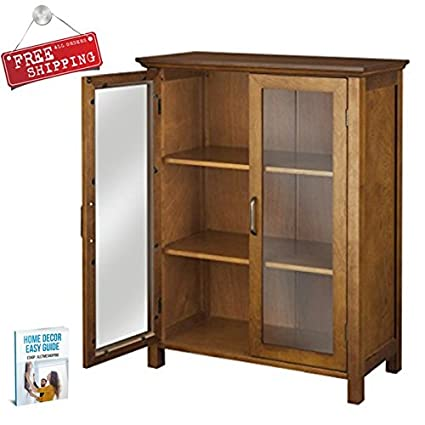 Amazon.com: Free Standing Small Cabinet Storage with Shelves and ...