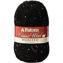Patons  Classic Wool Tweeds Yarn - (4) Medium Worsted Gauge 100% Wool - 3.5oz -   Black