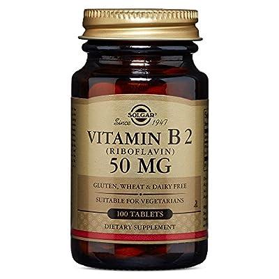 Solgar Vitamin B2 Riboflavin Tablets, 50 mg, 100 Count