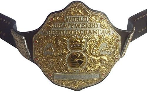 fanduベルトWorldユニセックス大人用ダークブラウンRealレザーHeavyweight Championshipタイトルベルト