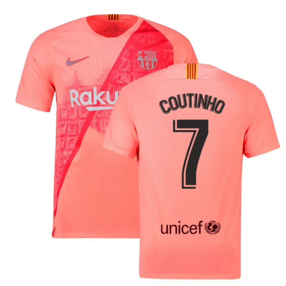 2018-2019 Barcelona Third Nike Football Soccer T-Shirt Trikot (Philippe Coutinho 7)