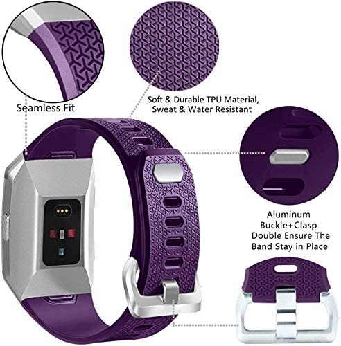 Wepro Bands Compatible with Fitbit Ionic SmartWatch, Watch Replacement Sport Strap for Fitbit Ionic Smart Watch, Large, Small 3