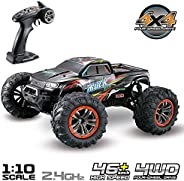 Hosim Large Size 1:10 Scale High Speed 46km/h 4WD 2.4Ghz Remote Control Truck 9125,Radio Controlled Off-road RC Car Electron
