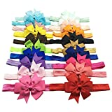 20pcs 3'' Cute Kids Hair Bows - Baby Girls Bowknot Headband Grosgrain Ribbon Bowknot Assort Colors Hair Bows Hair Band Hair Accessories