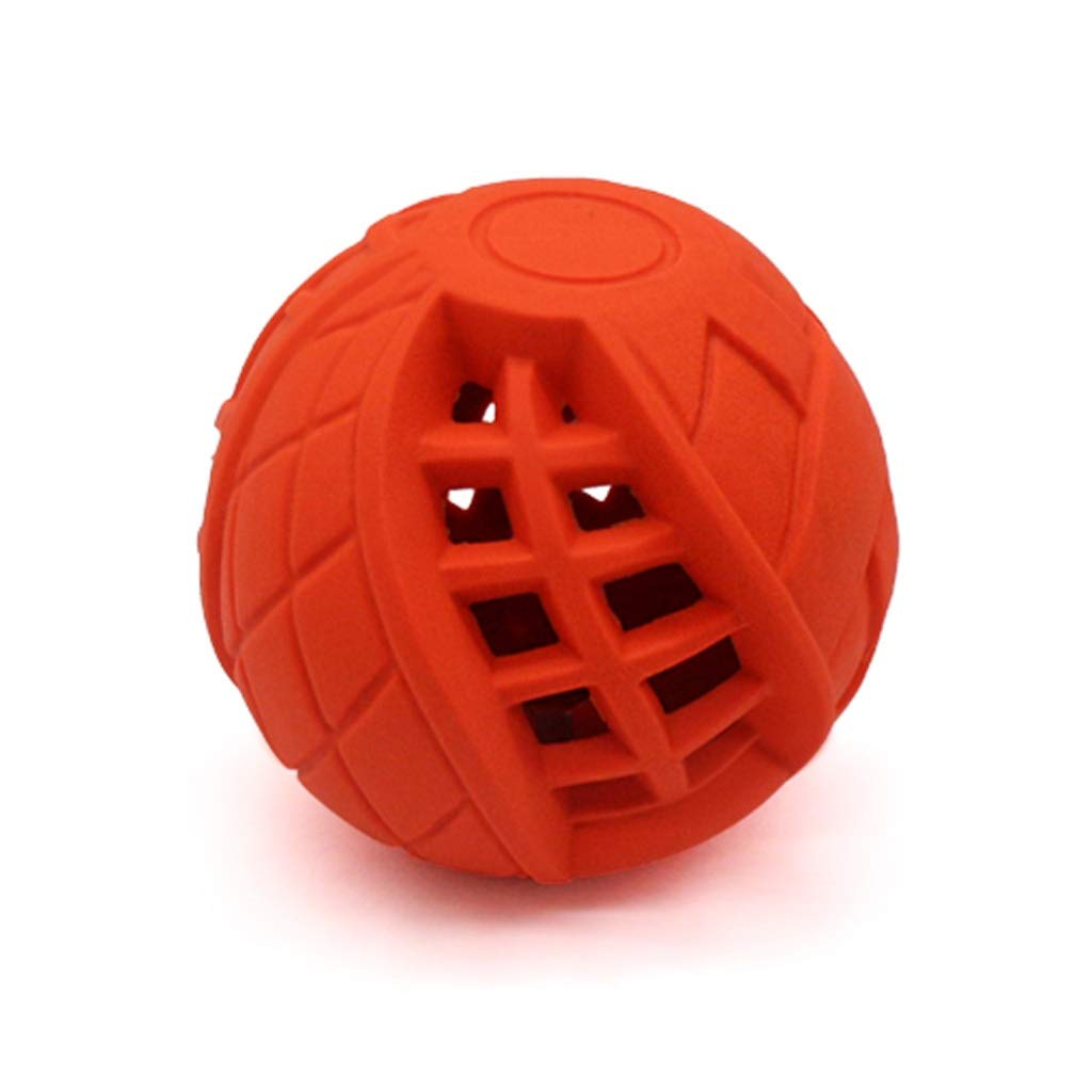 Red JIANXIN Dog Toys, Educational Toys, Bite-Proof Food Balls, Suitable for Small and Medium-Sized Dogs, Molar Teeth, 2 colors (color   Red)