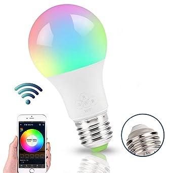kompatibel mit Alexa und Google Assistant WiFi Smart Light Bulb Wake-Up Lichter keine Nabe erforderlich dimmbar weich warmwei/ß