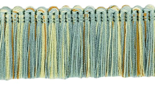 DecoPro Brush Fringe Trim|1 3/4' (45mm)|Style#: 0175HB|Color: 5939 (Blue Gold Pearl)|Sold by The Yard