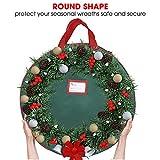 Primode Xmas Wreath Storage Bag with Handles