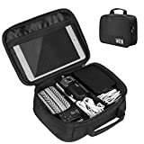 Travel Universal Cable Organizer Bag, SLYPNOS Gadgets Accessories Case Storage for USB Cable Charger iPad Mini Mobile Phone Digital Camera SD Card Earphone Power Bank, Black