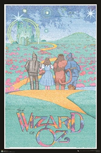 Wizard of OZ Entire Script Text Movie Poster 24x36 inch ()