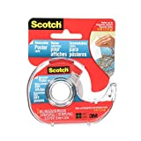 Scotch Tape Removable Poster Tape, 19mm Wide x 3.8m, 1 Roll in Dispenser [OB]