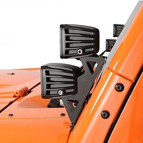 UPC 702865974365, AUXMART Dual Lower Windshield LED Light Mounts Brackets Kit for Dual LED Light Cube 07-16 Jeep JK Wrangler (Pack of 2)