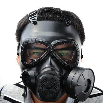 Fancymall-Mask M04 - Máscara de gas (con filtro, cara completa),