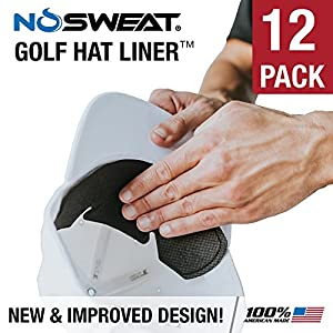 No Sweat Golf Hat Liner & Cap Protection - Prevent Hat Stains Rings ? Moisture Wicking, Headband, Sweatband, Hat Saver & Protection, Prevention, Cooling Towel Effect