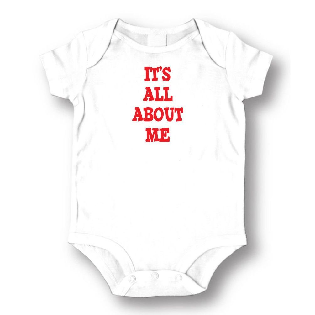 Dustin clothing series It's All About Me Baby Boys Girls Toddlers Funny Romper 0-24M
