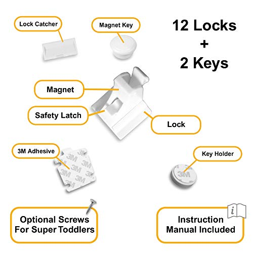 Skyla Homes Magnetic Cabinet Lock No Tools Needed 3m