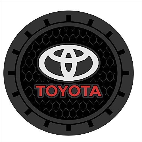 Auto sport 2.75 Inch Diameter Oval Tough Car Logo Vehicle Travel Auto Cup Holder Insert Coaster Can 2 Pcs Pack Fit Toyota Accessory ()