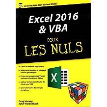 Excel 2016 et VBA pour les Nuls