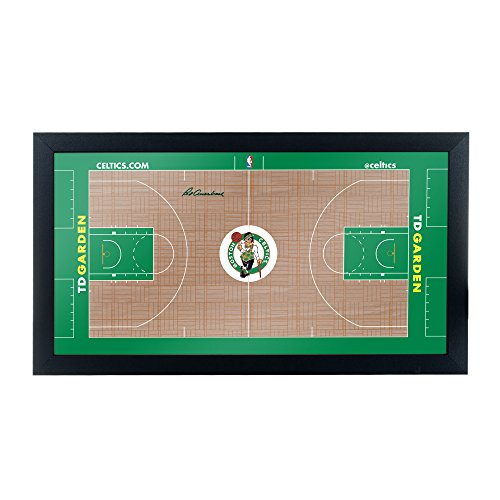 Trademark Gameroom Boston Celtics Official NBA Court Framed ()