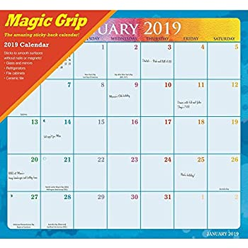 Calendar Ink, 2020 Rainbow Jumbo Magic Grip Wall Calendar