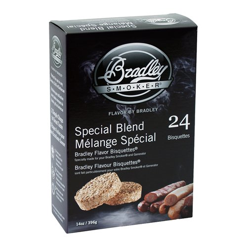 - Bradley Smokers BTSB24 Special Blend Bisquettes Smoker, 24-Pack