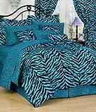Blue Zebra 8 Pc Full Comforter Set (Comforter, 1 Flat Sheet, 1 Fitted Sheet, 2 Pillow Cases, 2 Shams, 1 Bedskirt) SAVE BIG ON BUNDLING!