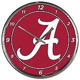NCAA Alabama Crimson Tide WinCraft Official Chrome Clock