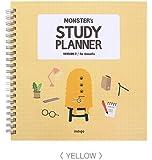 モンスター 勉強プランナー (Monster Study Planner) かわいい 女性 学生 キャラクター デイリー マンスリー 勉強 ペーパードールメイト 韓国 日記 計画 ギフト ノート (黄(Yellow))