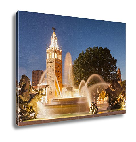 Ashley Canvas, Kansas City Missouri Fountain At Country Club Plaza, - Plaza City Country Kansas