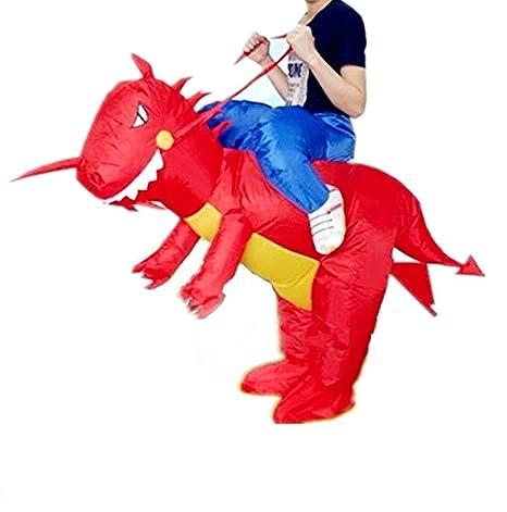 xiaoyi Disfraz Hinchable de Halloween para Adulto/niño, Disfraz Hinchable para Disfraz de Fiesta de Disfraces, Caballo Hinchable/Unicornio ...
