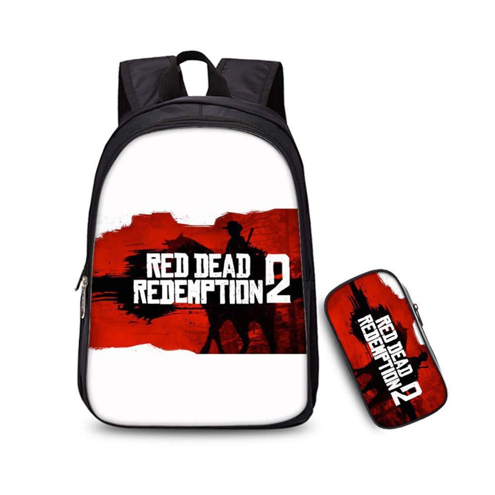 Red Dead Redemption 2 Mochila para Niños y Adolescentes Casual Mochilas de Colegio Viaje Impresión Mochilas Escolares Popular Mochila para Deportes al Aire ...