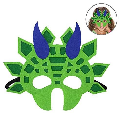 Aolvo Dinosaur Mask for Kids,Foam Animal Masks Felt Dinosaur Elastic Ribbon Toys for All Ages-Festival Parties/Masquerade/Halloween/Cosplay/Christmas Cartoon Gifts,Multicolor