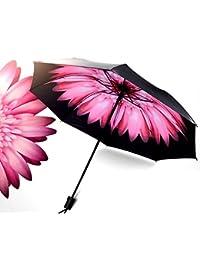Travel Umbrella - lightweight Anti-UV Sun Rain Umbrella for Men Women and Kids, Windproof Folding Compact Umbrellas with Multiple Colors