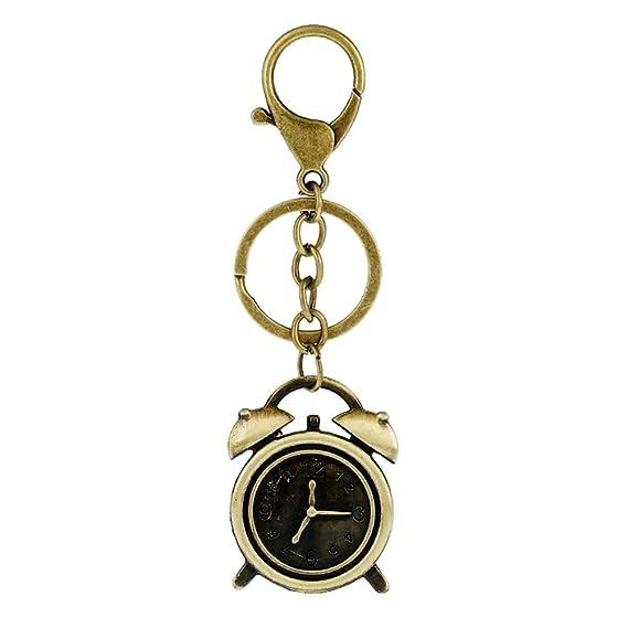 Demarkt Reloj Despertador Pareja Llavero Colgante Key Buckle ...