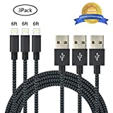 iPhone Cable,Aonsen 3Pack 6FT Charging Cord Nylon Braided - USB Lightning ...