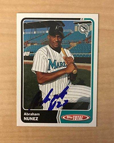ABRAHAM NUNEZ FLORIDA MARLINS SIGNED AUTOGRAPHED 2003 TOPPS TOTAL CARD#546 W/COA ()