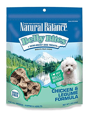 (Natural Balance Belly Bites Grain Free Dog Treats, Chicken & Legume Formula, 6-Ounce)