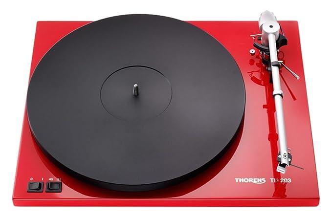 Thorens TD 203 - Tocadiscos (DC, Negro, Rojo, MDF, 400 x 320 x ...