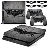 PS4 Fosheng Bat Man Logo Waterproof Vinyl Skin Decal Cover for Playstation 4 System Console and Controllers