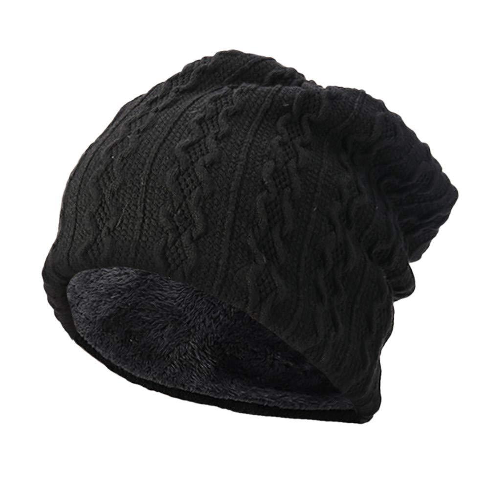 BSGSH Unisex Soft Slouchy Beanie Pentagram Printed/Solid Winter Comfortbale Ski Baggy Hat for Men Women (Black B)