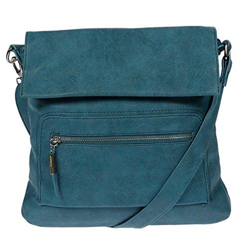 Christian Wippermann® - Bolso al hombro para mujer azul azul 32 x 30 x 7 cm azul