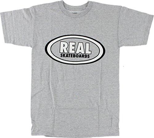 Real OG Oval Athletic Heather Grey Large T-Shirt