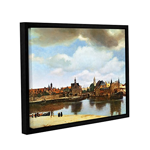 ArtWall Jan Vermeer's View of Delft Iii Gallery-Wrapped Floater-Framed Canvas Wall Art, 24
