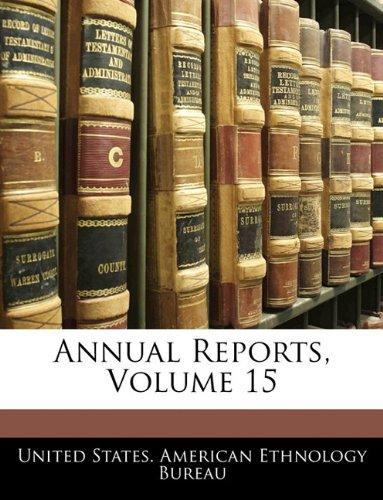 Download Annual Reports, Volume 15 pdf epub