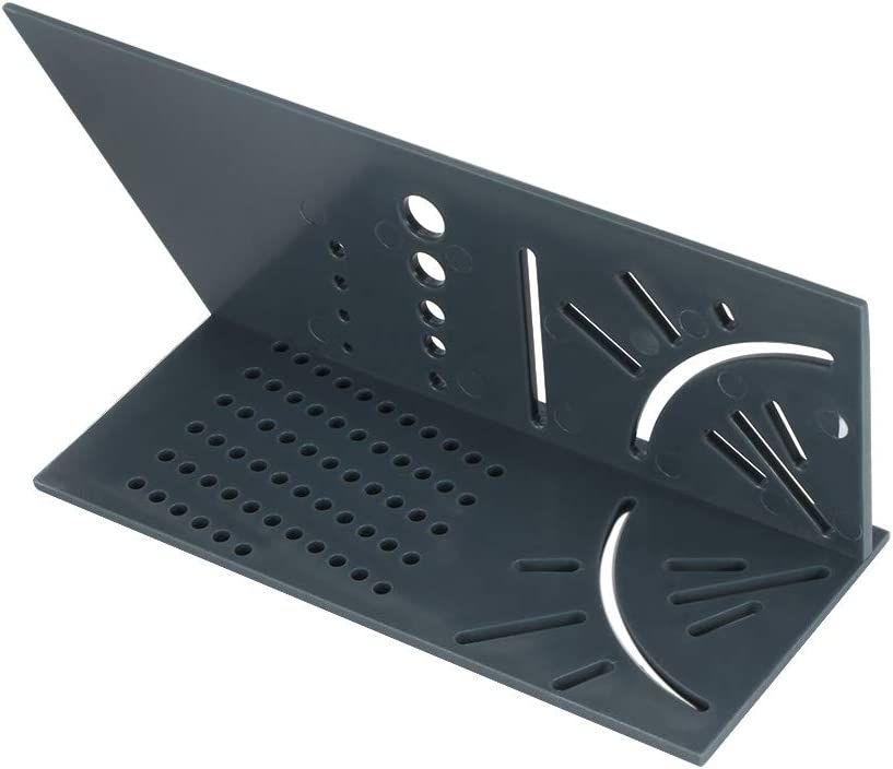 HITECHLIFE Multifunctional Plastic 3D Angle Ruler for Measuring Timber Pipes.